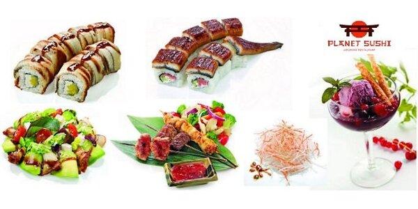 Parádní degustační menu pro dva v japonské restauraci Planet Sushi!