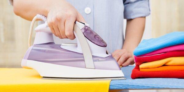 Pečlivé žehlení 5 nebo 10kg prádla včetně košil