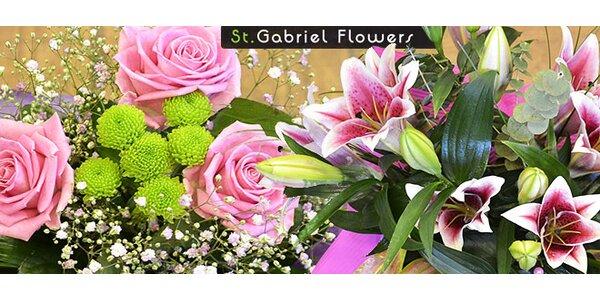 Kytice růží, gerber nebo lilií ze St. Gabriel Flowers