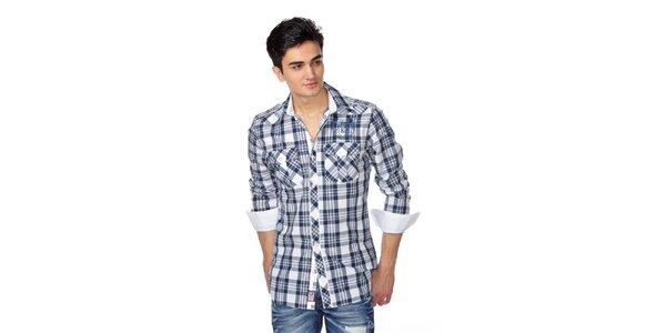 Pánská modro-bílá kostkovaná košile M. Conte
