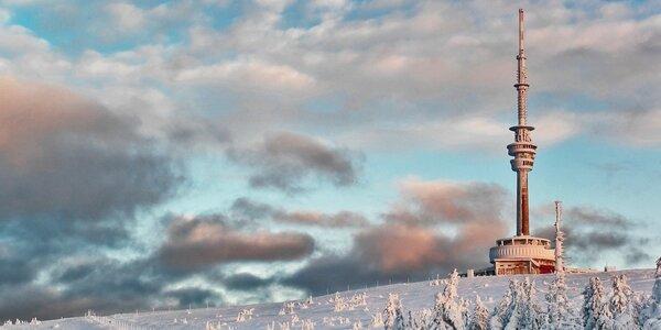 Zimní radovánky polopenzí na úpatí Pradědu