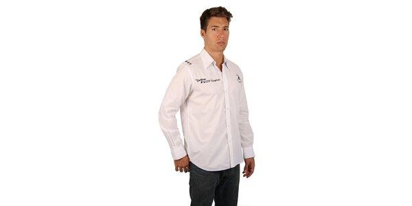 Pánská bílá košile s jachtařským potiskem M. Conte