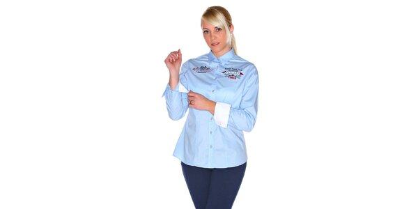 Dámská světle modrá košile M. Conte