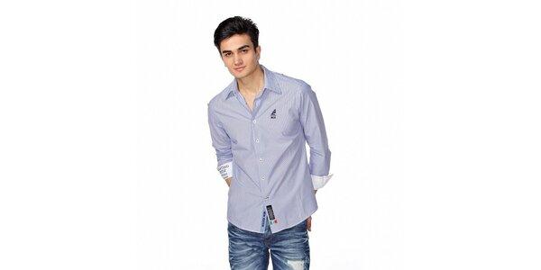 Pánská modro-bílá jachtařská košile M. Conte