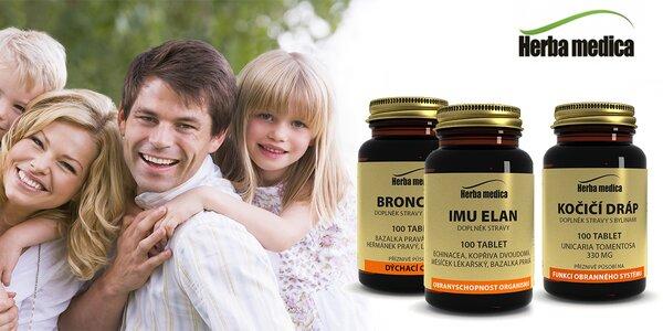 Podzimní balíček bylinných tablet pro rodinu