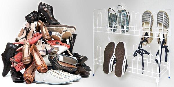 Skládací kovový stojan až na 10 párů bot