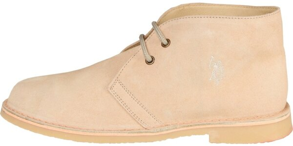 Pánské světle béžové semišové boty U.S. Polo
