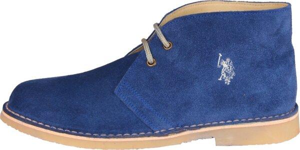 Pánské světle modré semišové boty U.S. Polo