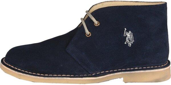 Pánské tmavě modré semišové boty U.S. Polo