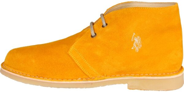 Pánské oranžové semišové boty U.S. Polo