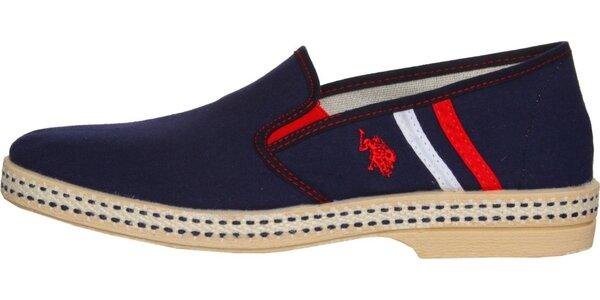 Pánské tmavě modré textilní mokasíny U.S. Polo