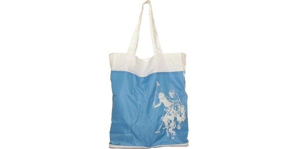 Dámská světle modrá skládací taška U.S. Polo