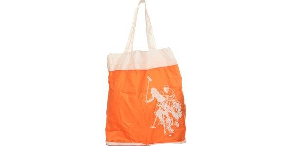 Dámská oranžová skládací taška U.S. Polo