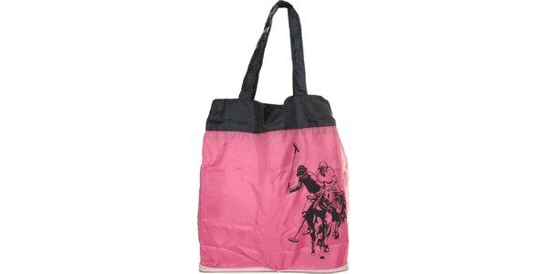 Dámská růžová skládací taška U.S. Polo