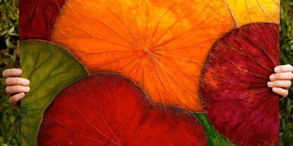 Vytvořte si originál: Malování na lotosové listy