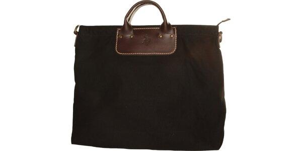 Dámská černá textilní kabelka U.S. Polo