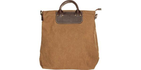 Dámská khaki textilní kabelka U.S. Polo