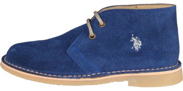 Dámské sytě modré semišové boty U.S. Polo