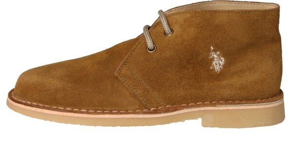 Dámské khaki semišové boty U.S. Polo