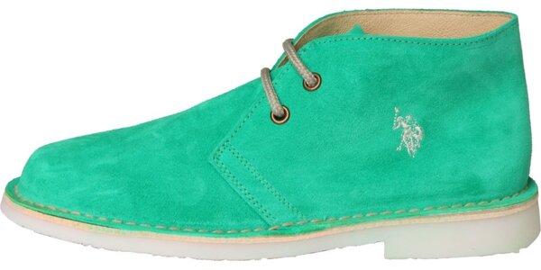 Dámské mintové semišové boty U.S. Polo