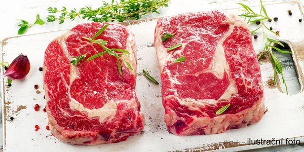 Ribeye steak z českého býka: 500 g skvělého masa