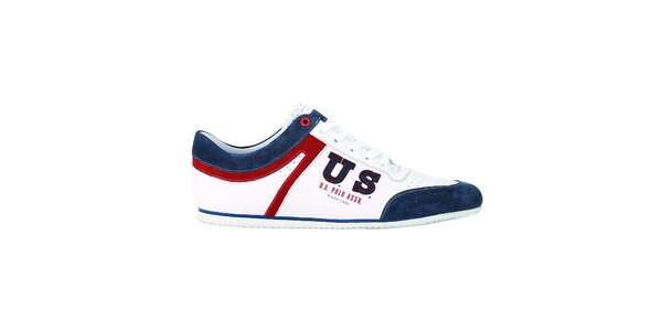 Pánské bílo-modré tenisky U.S. Polo