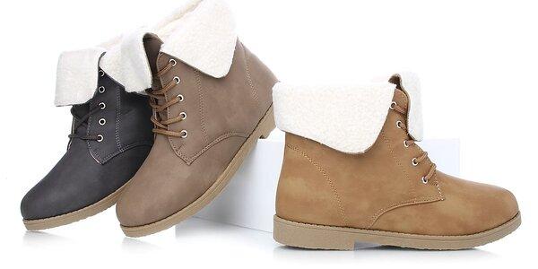 Dámské zimní kotníkové boty