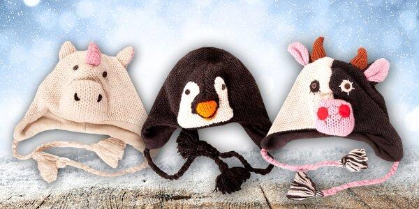 Zvířátková kolekce pletených čepic