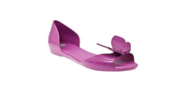 Fialové sandály Mel s motýlkem