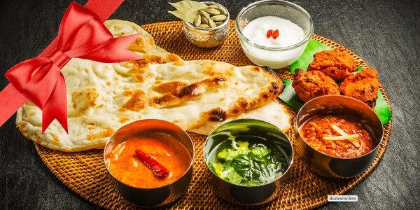 Degustace indických pokrmů pro dvě osoby