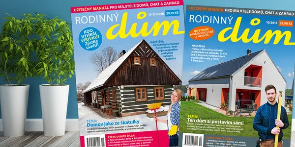 Předplatné časopisu Rodinný dům vč. online verze