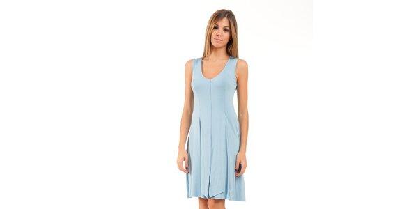 Dámské světle modré šaty se sklady Conquista