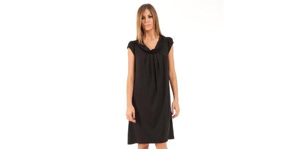Dámské černé šaty se sklady Conquista