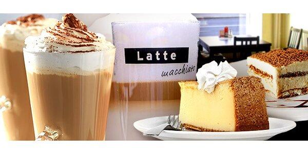 Dvě lahodné kávy a dva dezerty dle výběru