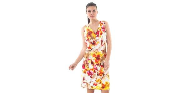Dámské bílé šaty Conquista s květinovým potiskem