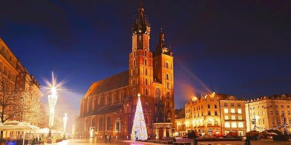 Zimní dovolená v srdci Krakova se snídaní pro dva