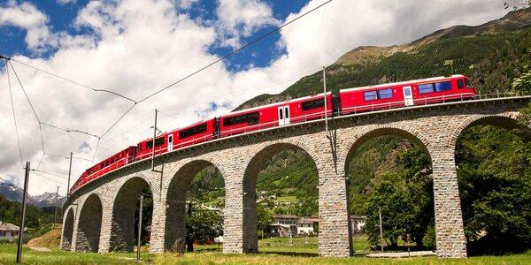 Výlet do Švýcarska a jízda v panoramatickém vlaku