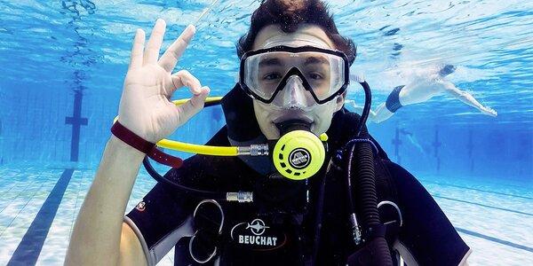Potápění s instruktorem v bazénu vč. fotek