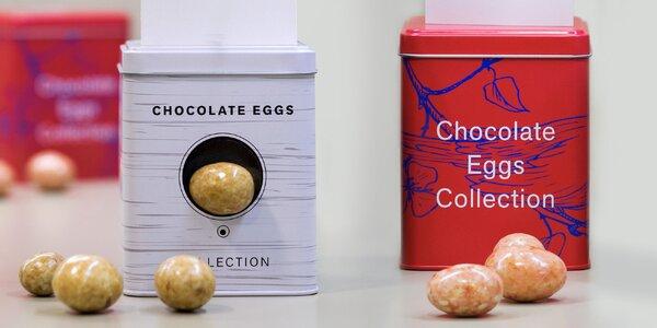 Čokoládová ptačí vejce v plechové budce