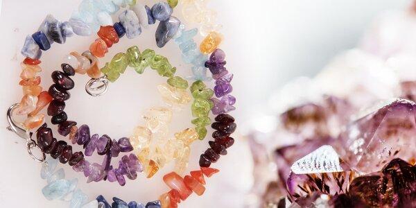 Čakrový náhrdelník a náramek z drahých kamenů