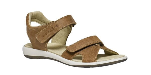 Dámské hnědé sandále se suchými zipy TBS