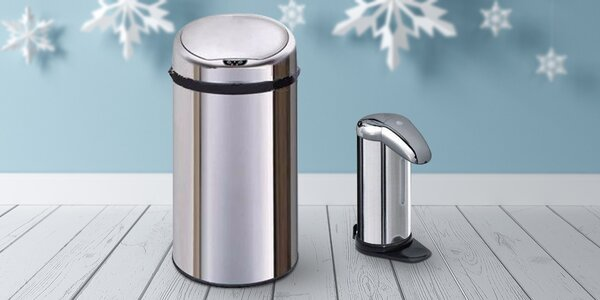 Bezdotyková domácnost - koš a dávkovač mýdla