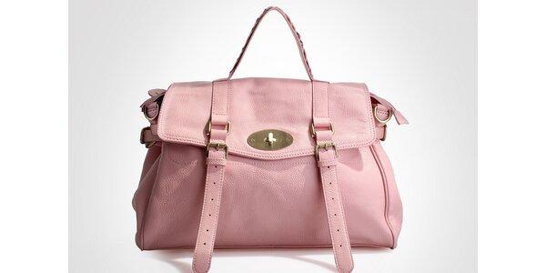Dámská růžová kabelka Belle & Bloom s ozdobnými pásky