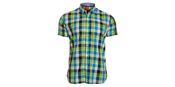 Pánská zeleno-modrá kostkovaná košile Chaser