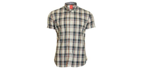 Pánská šedo-zelená kostkovaná košile Chaser