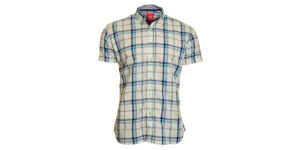 Pánská bílo-modrá kostkovaná košile Chaser