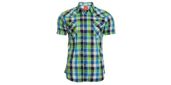 Pánská modro-zelená kostkovaná košile Chaser