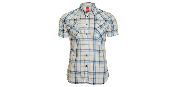 Pánská modro-bílá kostkovaná košile Chaser