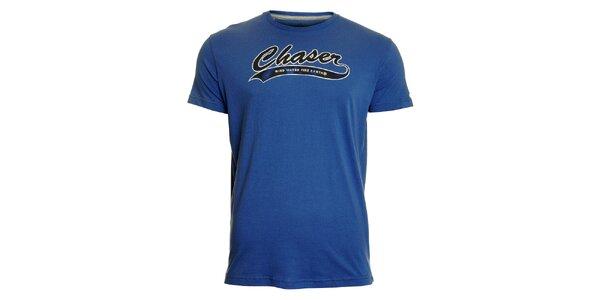 Pánské modré tričko Chaser s potiskem