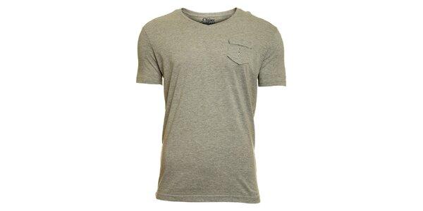 Pánské světle šedé tričko Chaser